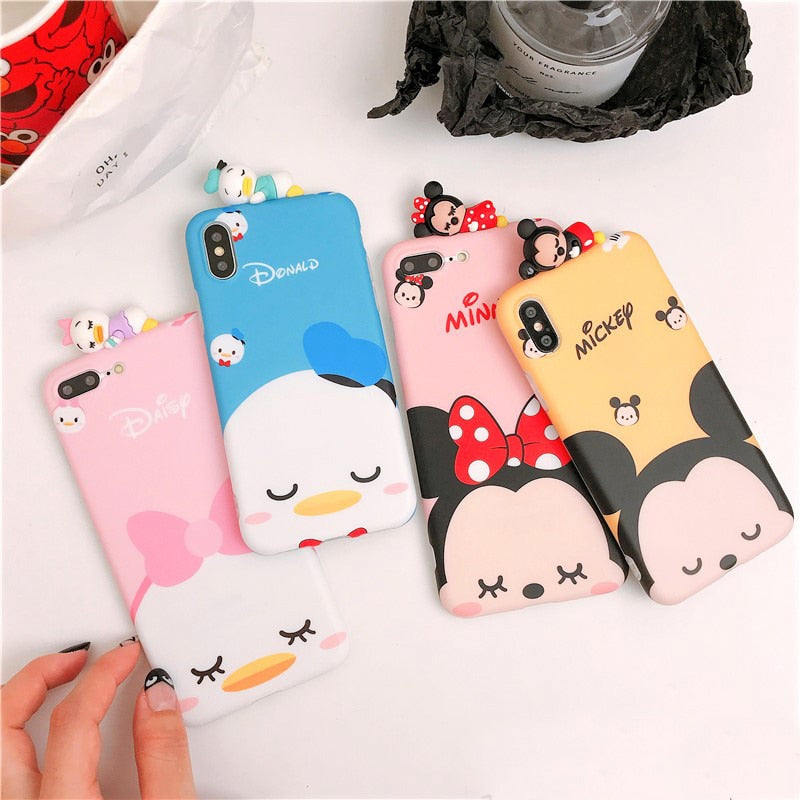 For IPhone XS Cute 3D Bare Bears Cases For Iphone XR X Max 8plus 8 7 7plus 6 6s 6pS Cartoon Bear Soft Back Cover