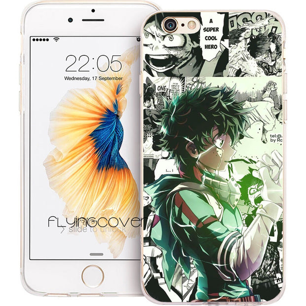 Fundas Boku My Hero Academia Clear Soft Silicone Phone Cases For IPhone XS Max XR X 7 8 6 6S Plus 5S 5 SE 5C 4S 4 IPod Touch 6 5