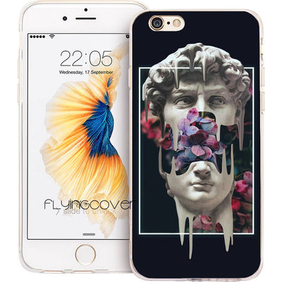 Fundas David Vaporwave Glitch Soft Silicone Phone Case For IPhone XS Max XR X 7 8 6 6S Plus 5S 5 SE 5C 4S 4 IPod Touch 6 5 Cover