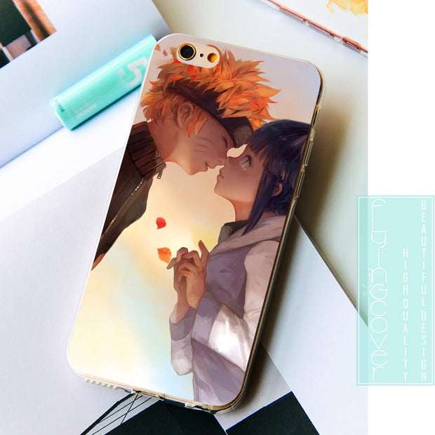 Fundas Kakashi Naruto Sasuke Clear Soft Silicone Phone Cases For IPhone XS Max XR X 7 8 6 6S Plus 5S 5 SE 5C 4S 4 IPod Touch 6 5