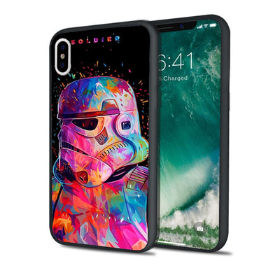 Fundas Rainbow Star Wars Black Soft Silicone Phone Case For IPhone XS Max XR 7 8 Plus 5S 5 SE 6 6S Plus Luxury IPod Touch 6 5.