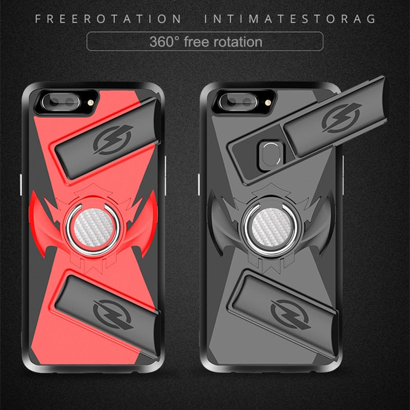 Gamepad Trigger Case For IPhone X 7 8 Kickstand Magnetic Car Ring Holder PUBG Controller Game Case For IPhone 7 8 Plus 6 6S Plus