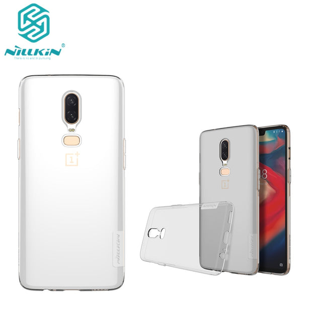 brand new eb760 68a99 Genuine NILLKIN Oneplus 6 Case Nature Clear TPU Transparent Soft Back Cover  Case For One Plus 6 Phone Bag