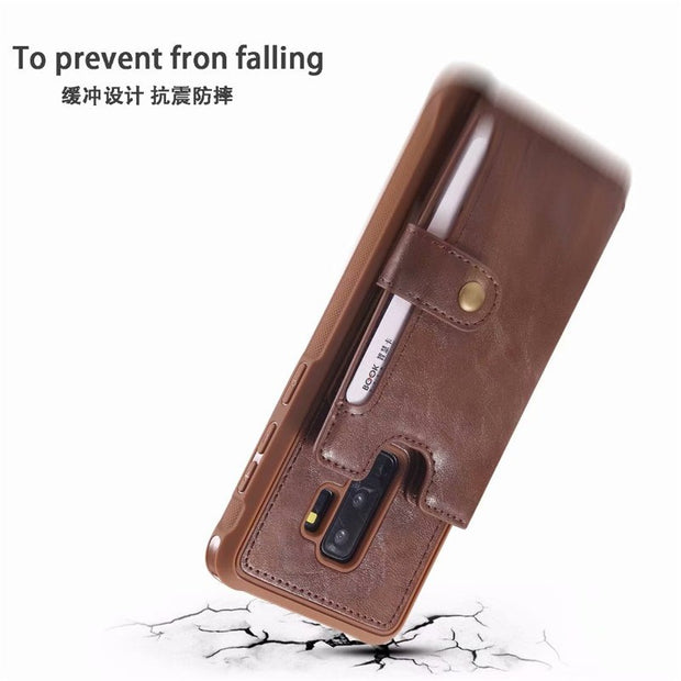 Hand Strap With Retro PU Leather Case For Samsung Galaxy S8 S9 Multi Card Holders Case Cover For Samsung S8 Plus S9 Plus Shells