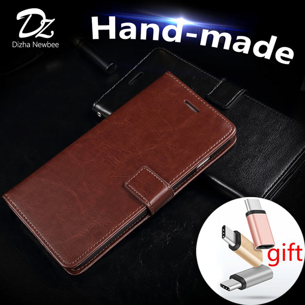 Hand-made For Oneplus 3 3T Case Luxury Wallet Phone Holder PU Leather Flip Cover Card Slot Stander Protector Kickstand Function