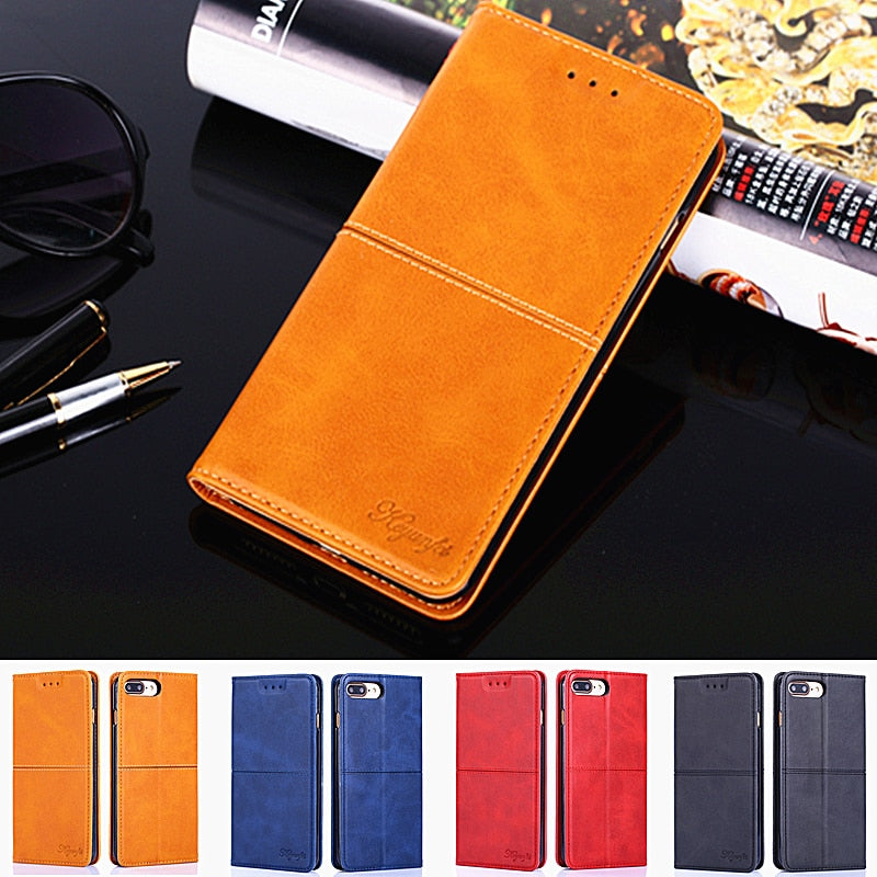 Honor 8A 8a Case Luxury Flip PU Leather Wallet Phone Case For Huawei Honor 8A Stand Card Holder And Magnetic Cases Cover