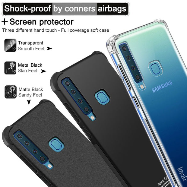 IMAK Case For Samsung Galaxy A9s / A9 Star Pro Shockproof Silicone Soft TPU Cover Sfor Samsung A9 2018 Case With Film
