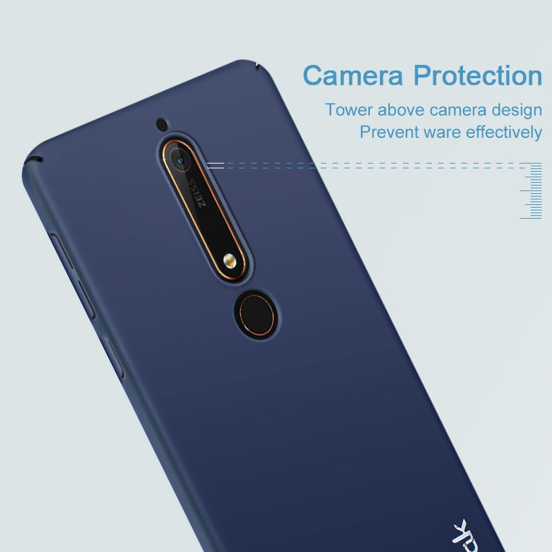 IMAK Jazz Back Case For Nokia 6 2018 Case Luxury Skin Slim Plastic Hard Cover For Coque Nokia 6 2018 Phone Case Nokia6 Armor