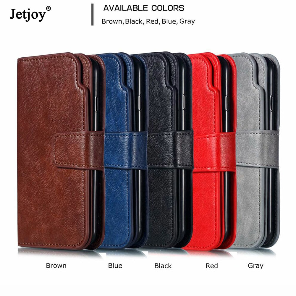 Jetjoy 360 Protection Wallet Flip Leather Phone Case For Huawei Mate 20 Pro/Mate 20 Lite/Mate 20 Card Slot Lanyard Cases Covers