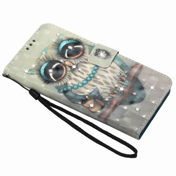 Jewelled For Xiaomi Mi 8 Mi Mix 2S A1 A2 6X 5X Flip Wallet Case Mi8 Mia1 Mi5x Mia2 Mi6x 3D Bling Painting Leather PU Phone Cover