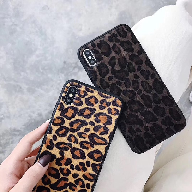Leopard Print Pattern TPU Slim Case Cover For Iphone XS XR XSMAX Animal Fur Pattern Back Cover Case For Iphone 6 6plus 7 8plus