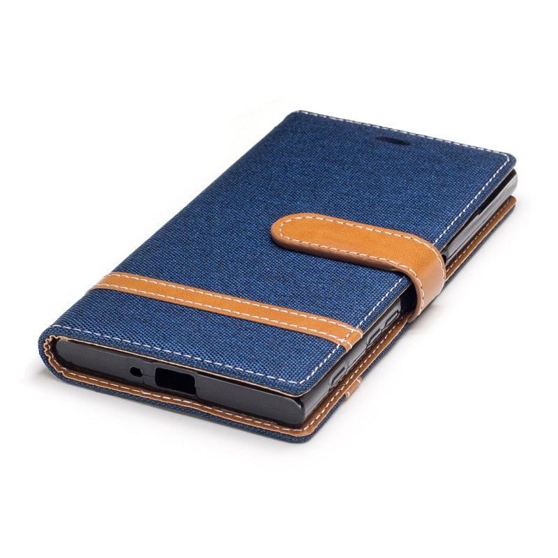Luxury Case For Sony Xperia XZS XA1 PU Leather Card Wallet Denim Magnetic Case Cover For Sony Xperia XA1 XZS Sony XZS With Pen