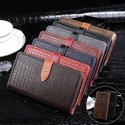 Luxury Crocodile Pattern Leather Case For Samsung Galaxy A6 2018 Silicone Wallet Flip Cover For Samsung A6 2018 Phone Fundas