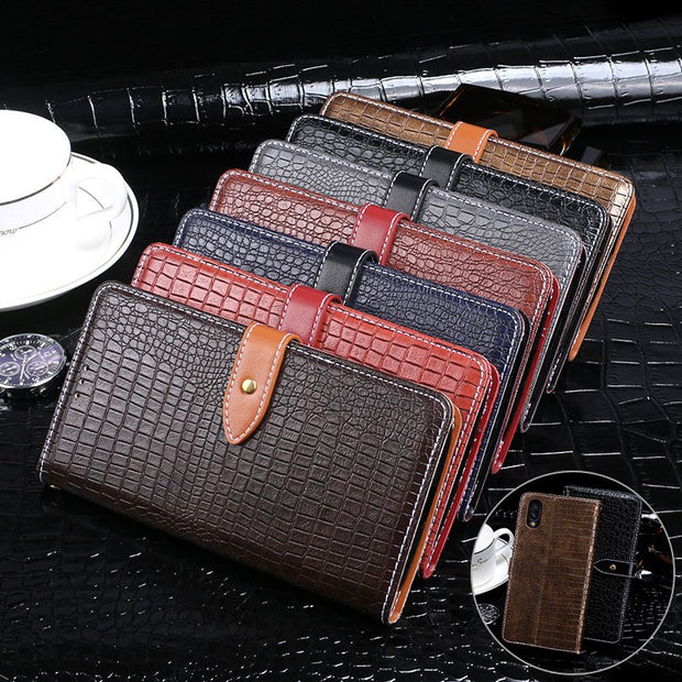 Luxury Flip Crocodile Leather Wallet Cases For Vivo NEX S Case Protection Cover For Vivo NEX Ultimate 6.59 Inch Phone Bags