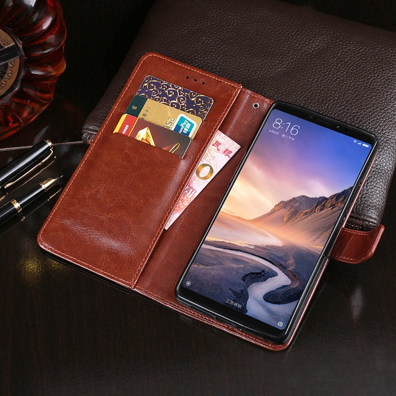 "Luxury Leather Cover For Xiaomi Mi Max 3 Case 6.9"" Flip PU Wallet Case For Xiaomi Mi Max3 With Card Slot Case Coque Fundas"