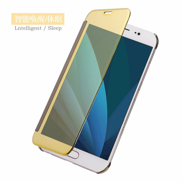 Luxury Original Mirror Smart Flip Cover SFor Samsung Galaxy J5 J7 2016 J510 J710 2017 J530 J730 Mobile Phone Cases Coque Funda