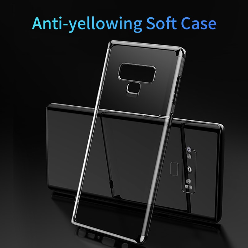 Luxury Soft Silicone Case For Samsung Note 9 Ultra Thin Transparent Clear Case For Samsung Galaxy Note 9 Phone Cover Fitted Case