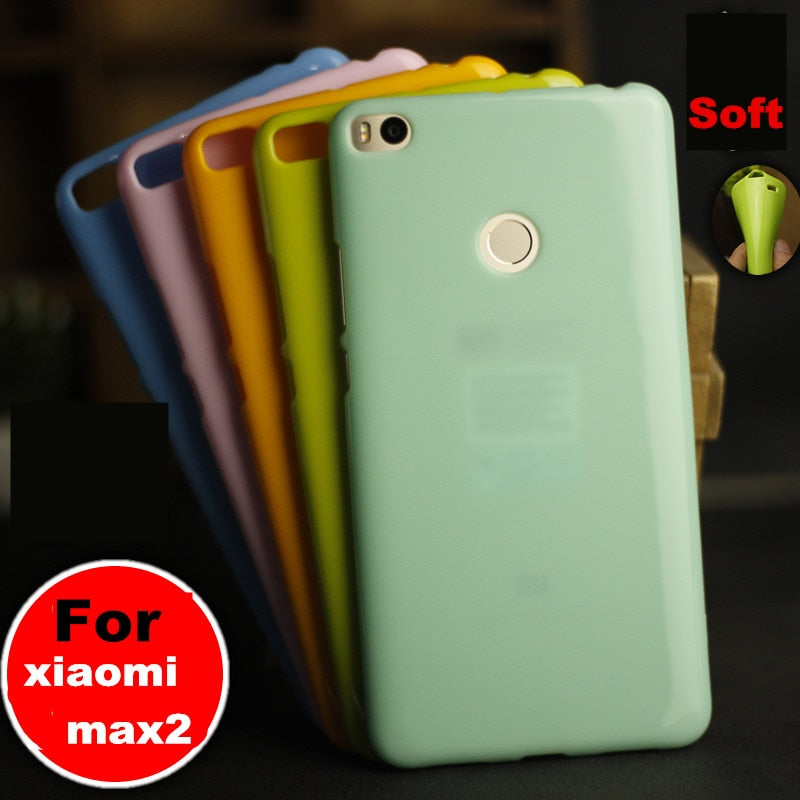 "MIMAX2 Colorful Case Cover For Xiaom Mi Max2 Max 2 6.44"" Phone Case Soft Silicone TPU Back Cover Case Protective Shell"