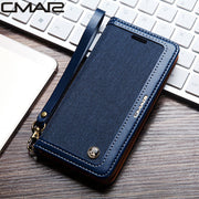 Magnetic Flip Protect Cover For Iphone X Leather Case Denim Cowboy PU Leather Cover For Iphone 6 6s 6 Plus 7 7 Plus 8 8 Plus X