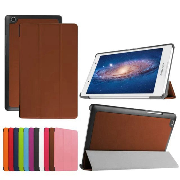 Magnetic PU Leather Case For Lenovo Tab 3 8.0 850F/M TB3-850M TB-850M Tab 2 A8-50 A8-50L Case+ Film Stylus Pen