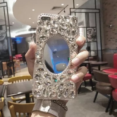 Mobile Phone Cases For IPhone 5C 5 5S SE 6 7 8 Plus Fashion Bling Color Diamond Mirror Soft Shell TPU Case For IPhoneX XS MAX XR