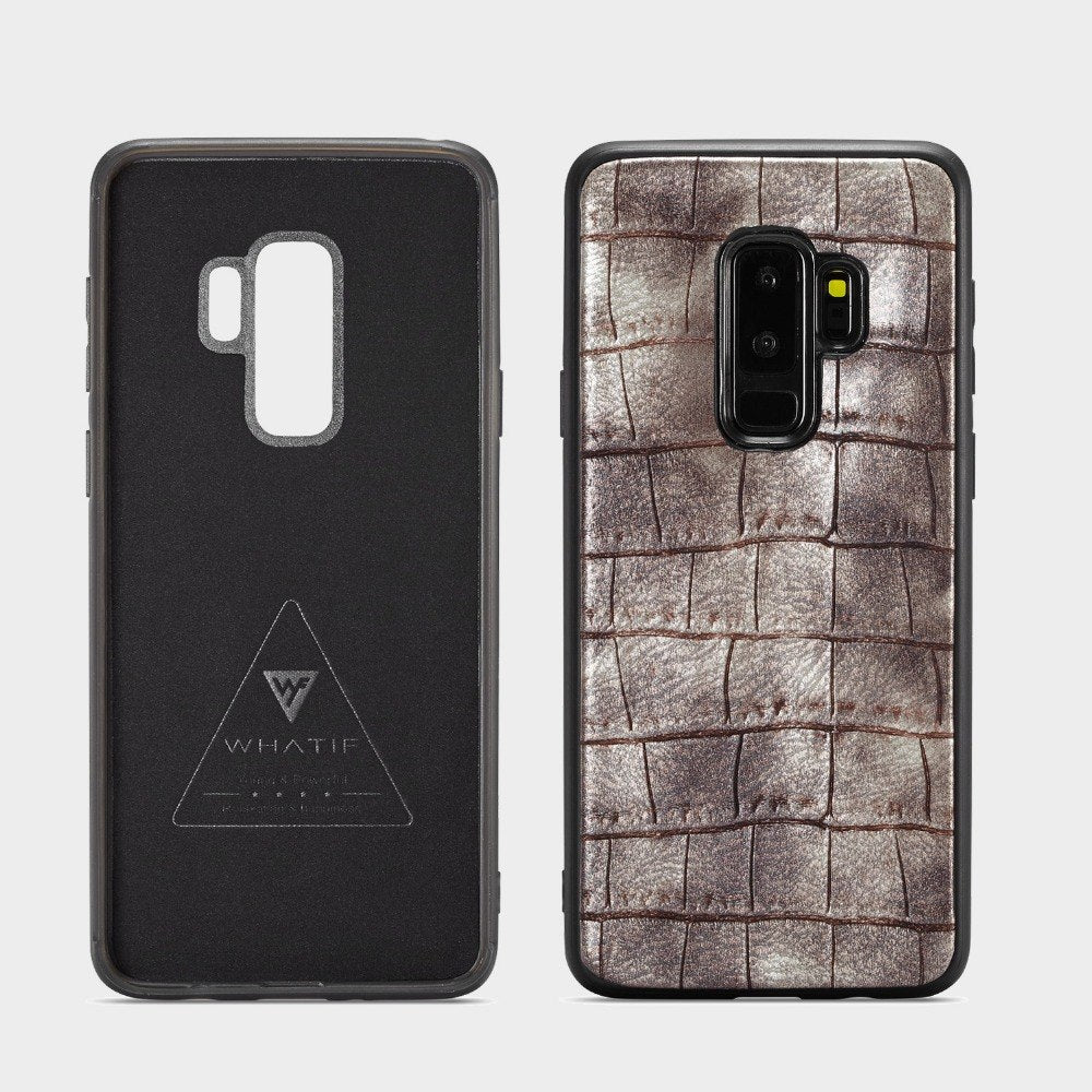 Netarlier Vintage Crocodile Leather Phone Case For Samsung Galaxy S9 Plus PC+TPU Material Full Protection Random Leather Cover