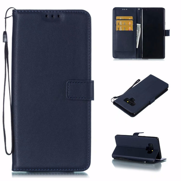 New Fundas For Samsung Galaxy S3 S4 S5 Mini S6 S7 Edge S8 S9 Plus Note 3 4 5 8 9 Card Holder Pu Leather Case Wallet Flip Cover