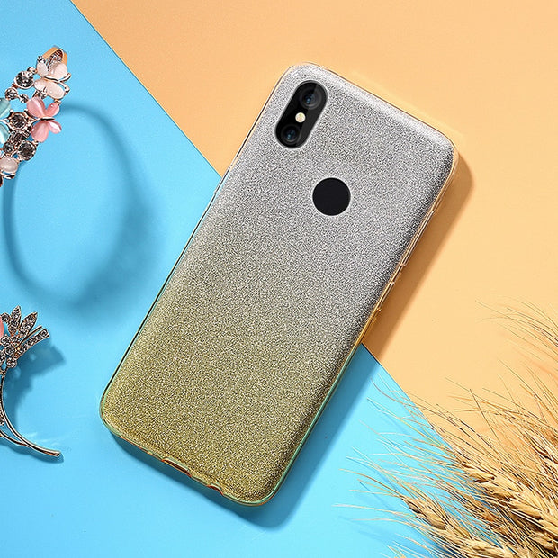OLOEY For Coque Redmi Note 5 Pro Cover Ultra Thin 2 Layer Glitter Soft TPU Silicone Slim Case For Funda Redmi Note 5 Prime Capas