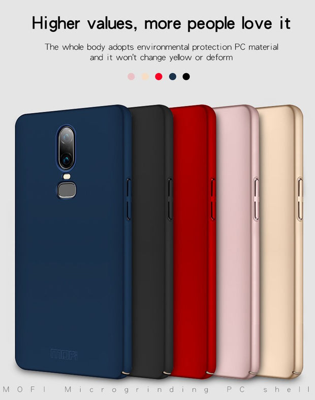 Oneplus 6 Case Cover MOFI One Plus 6 Hard PC Back Cover Case For 1+6 Back Hard Case Protective For OP6 Full Cover Frosted Case