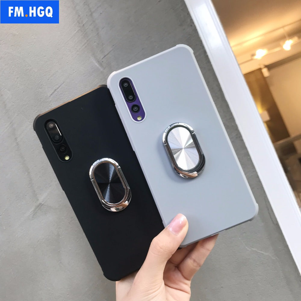 P20 Pro Case Magnetic Car Holder Case For Huawei P20 Pro P20 Case Finger Ring Phone Cover For Huawei P20 Lite Capa