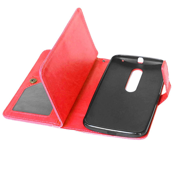 Phone Case For Motorola X Style Mobile Phone Flip Wallet Pu Leather Cover With Card Holder Holster Stand For Moto X Style Shell