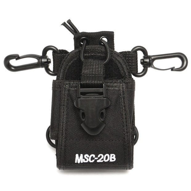 Portable MSC-20B 3 In 1 Universal Nylon Pouch Case Walkies Talkies Bag Cover Dirt Resistance For Baofeng Walkie Talkie Radio