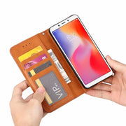Redmi 6 Case Cover PU Leather Silicone Wallet Flip Back Cover For Xiaomi Redmi 6 Card Slot Cover Magnetic Shockproof Funda Coque