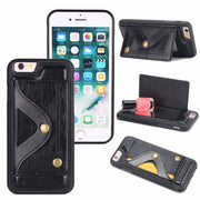 Retro Pu Leather Case For Iphone 6 Plus Card Slot Wallet Support Shell For Iphone 6S Plus Multi-function Mobile Phone Cover