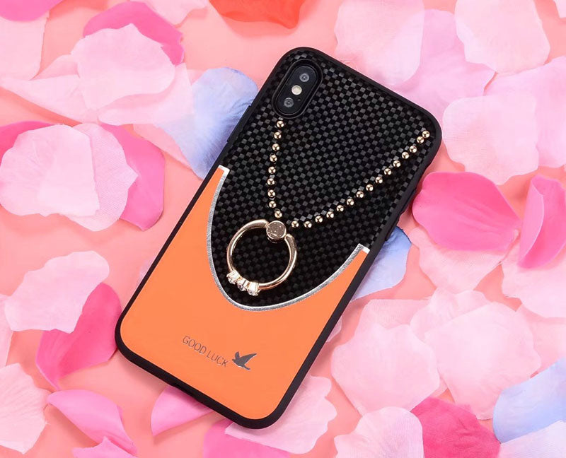 Rhinestone Bracket Phone Case For IPhone X 7 7plus 8 8pus TPU Silicone Soft Back Cover Shatter-resistant For Iphone 6 6S 6plus