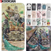 SKOORJAN Phone Etui For Coque Huawei P20 Pro Case Luxury PU Leather Wallet Flip Cover For Huawei P20 Pro Housing Capinha