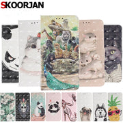 SKOORJAN Phone Etui For Coque Huawei Y6 2018 Case Luxury PU Leather Wallet Flip Cover For Huwawei Y6 2018 / Honor 7A Capinha