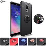 Soft Silicone Case For Samsung Galaxy A6 Plus A6+ 2018 A605F SM-A605F Case Ring Phone Cover For Samsung A 6 6A Plus A605 TPU Bag