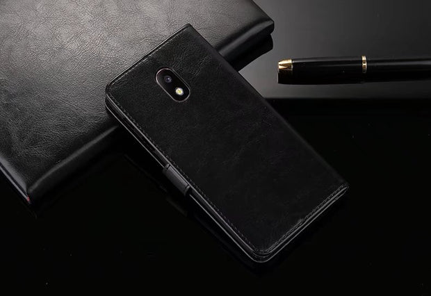 Stand Wallet Flip Leather Case For Samsung Galaxy J7 Pro 2017 Galaxy J7+ J7 Plus / Galaxy C8 C7100 Case With Card Slots Case