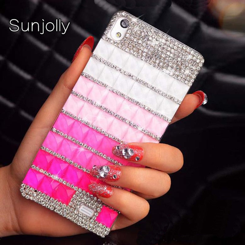 Sunjolly Rhinestone Case Diamond Bling Phone Cover Crystal Coque Fundas For IPhone X XS MAX XR 8/ 7 Plus 6/6S Plus 5S 5 SE 5C