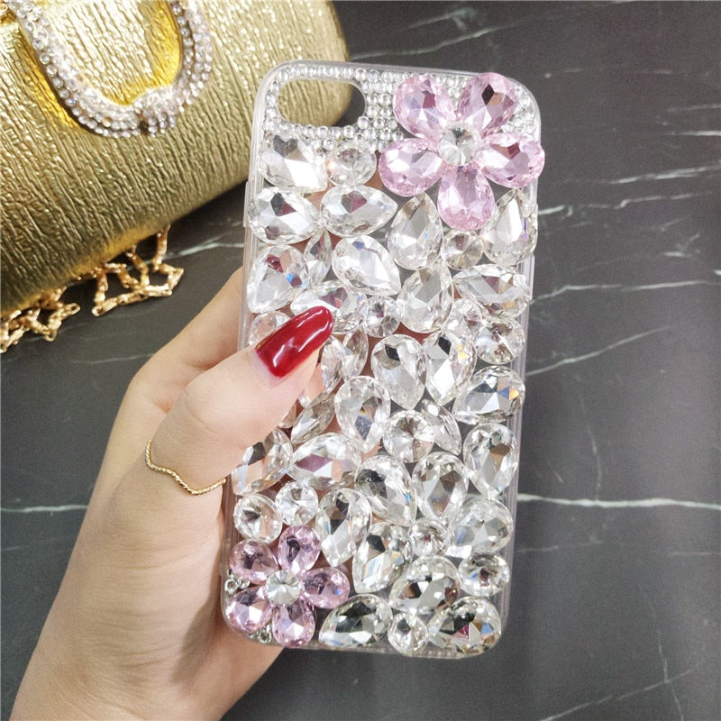 Super Luxury DIY Bling Crystal Diamond Rhinestone Phone Case Cover For Huawei P8 P9 P10 P20 Lite Plus Mate7 8 9 10 Lite Pro Case