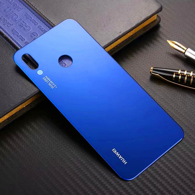 Top Quality Back Battery Cover For Huawei P20 Lite Luxury Tempered Glass For Huawei Nova 3E Housing Replacement Parts