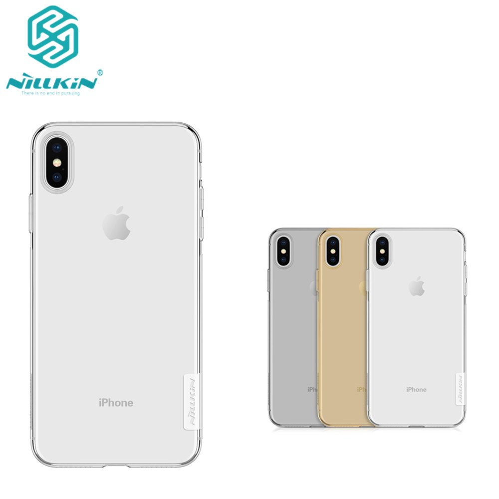 Tpu Case For IPhone XS Max NILLKIN Nature Clear TPU Ultra Thin Case For IPhone XS Max 6.5 Soft Back Cover Case