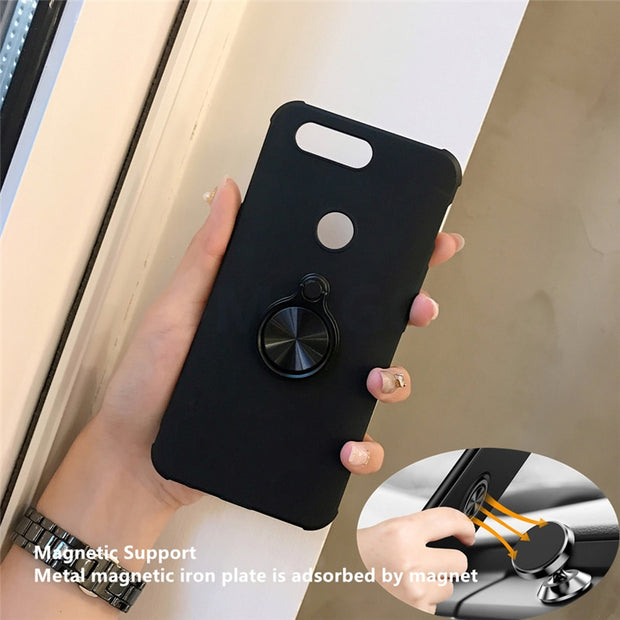 Ultra Thin Magnetic Car Holder Case For Oneplus 5 5T Case Finger Ring Phone Cover For Oneplus5T 5 Cover Oneplus 5 T Capa