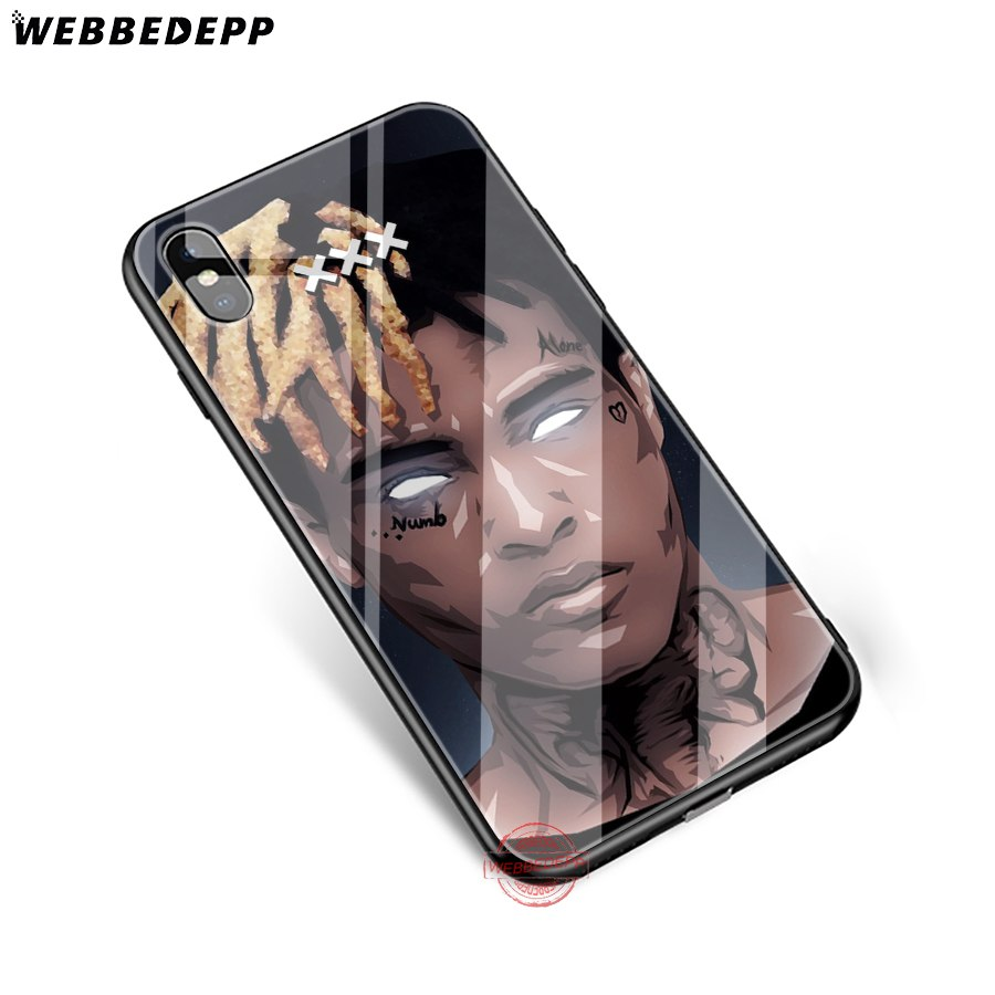 WEBBEDEPP Xxxtentacion Fashion Tempered Glass Phone Case For Apple IPhone XS Max XR X 8 7 6S Plus 5S SE Cover