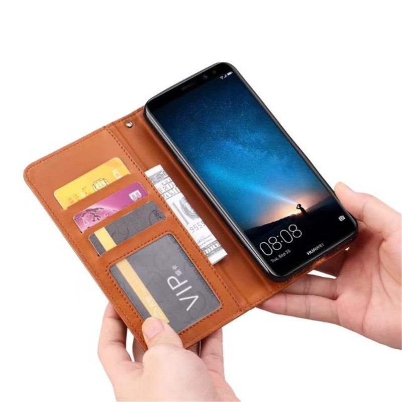 "Wallet Cover For Huawei Mate 10 Lite/ Nova 2i Case Flip PU Leather 5.9"" For Honor 9i Cover Card Slot Magnetic Protective Shield"