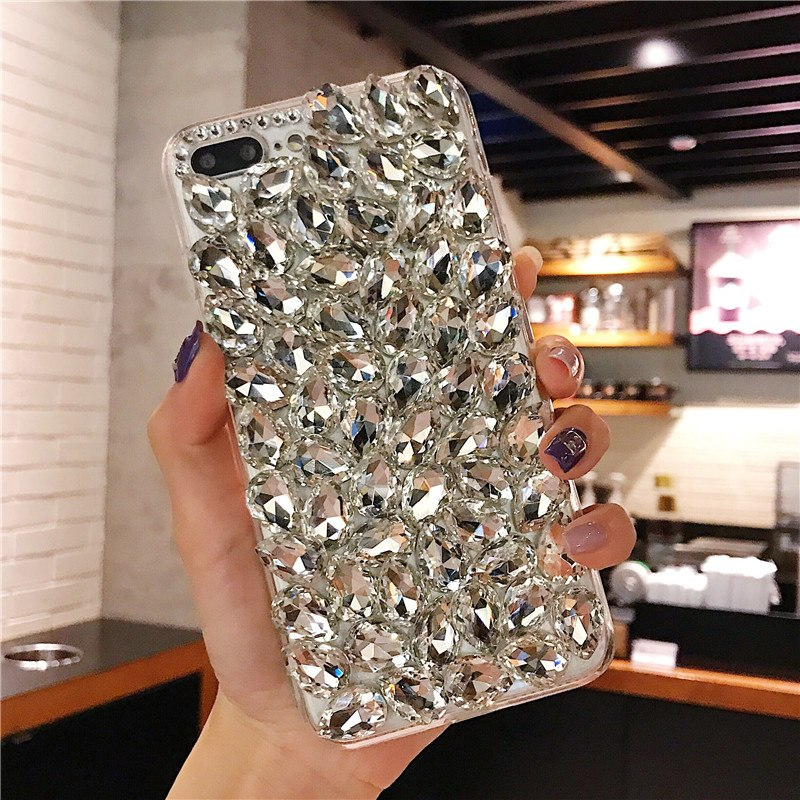 XSMYiss Bling Rhinestone Crystal Diamond Color Love Soft Back Phone Case Cover For Xiaomi 5 Plus 5X 6 Max MIX 3 Redmi Note Prime