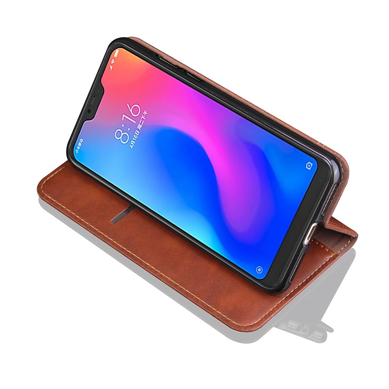 Xiaomi Redmi 6 Pro Case Cover Retro Rivet Leather Phone Case On For Funda Xiaomi Redmi 6 Pro Xiomi Mi A2 Lite Magnetic Flip Case