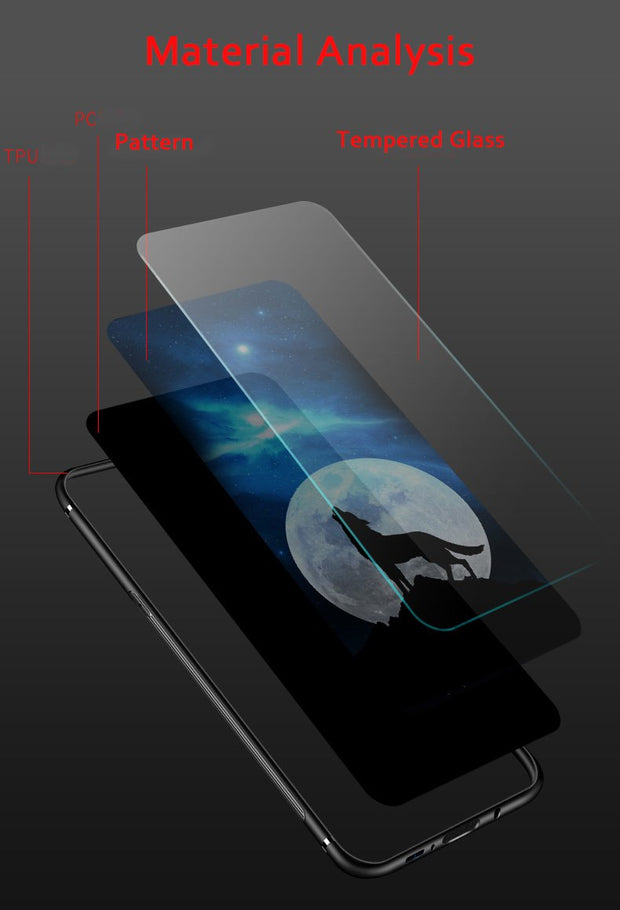 Xiomi Mi Mix 2S Case For Coque Xiaomi Mi Mix 2s Back Cover Tempered Glass Phone Cases For Xiaomi MIX 2S Case Coque Capa Fundas
