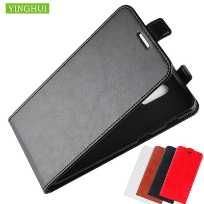 YINGHUI Leather Vintage Wallet Cover Leather Case For One Plus 6T Flip Full Body Protected Cover Phone Case For OnePlus 6T